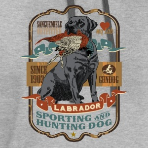 labrador_and_pheasant_b T-Shirts - Contrast Hoodie
