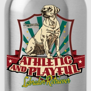 lab_athletic_playful_y T-Shirts - Water Bottle