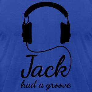 Jack had a groove headphones house techno Hoodies - Men's T-Shirt by American Apparel