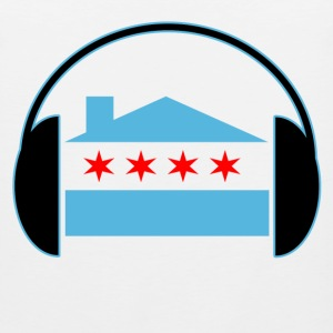 Chicago House Flag Headphones - EDM Women's T-Shirts - Men's Premium Tank