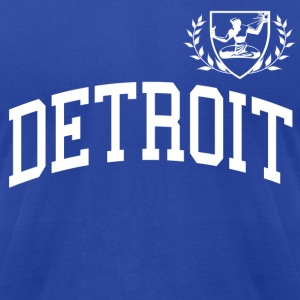 Detroit Soccer-Style Crest - Men's T-Shirt by American Apparel
