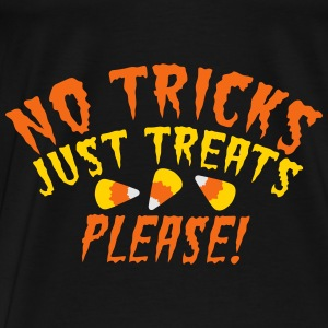 NO TRICKS just treats please! Halloween design  Bags & backpacks - Men's Premium T-Shirt