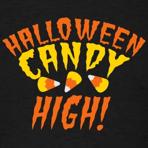 HALLOWEEN candy high! with candy corn cute! Tanks - Men's T-Shirt