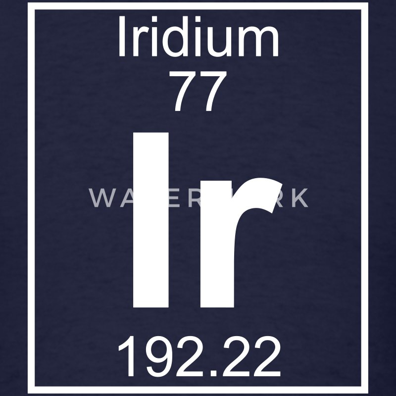 Element 77 - Ir (iridium) - Full T-Shirts - Men's T-Shirt