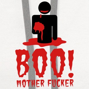 NSFW BOO! mother fucker with zombie man eating bra Phone & Tablet Covers - Contrast Hoodie