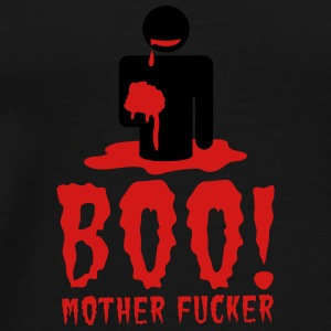 NSFW BOO! mother fucker with zombie man eating bra Dog T-Shirts - Men's Premium T-Shirt