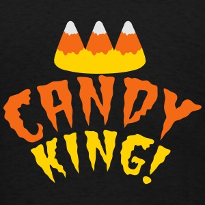 CANDY corn KING with crooked candy corn teeth Sweatshirts - Men's T-Shirt