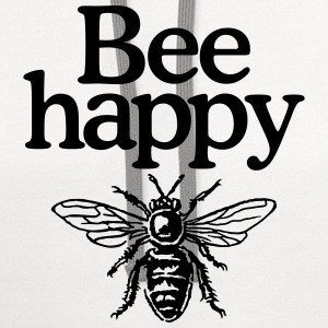 Bee happy (Men's t-shirt) - Contrast Hoodie