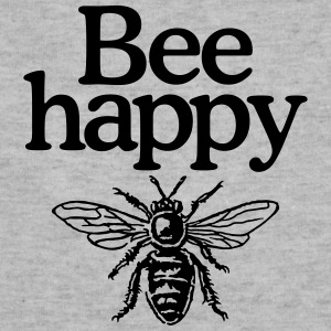 Bee happy (Men's t-shirt) - Sweatshirt Cinch Bag