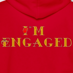 Engagement I'm Engaged T-Shirt - Unisex Fleece Zip Hoodie by American Apparel