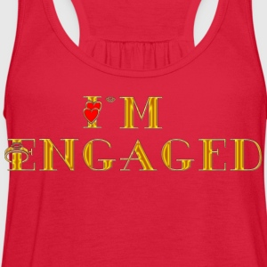 Engagement I'm Engaged T-Shirt - Women's Flowy Tank Top by Bella