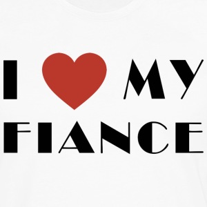 I Love My Fiance T-Shirt - Men's Premium Long Sleeve T-Shirt