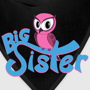Owl Big Sister Women's T-Shirts - Bandana