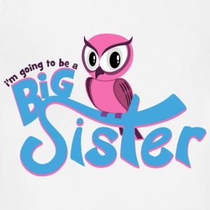 I'm going to be a Big Sister - Owl Hoodies - Adjustable Apron