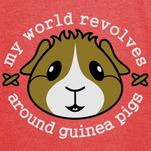 My World Revolves...' Guinea Pig Tote Shopping Bag - Vintage Sport T-Shirt
