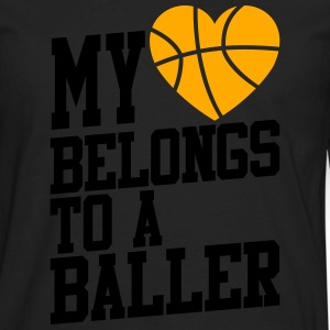 my heart belongs to a baller Women's T-Shirts - Men's Premium Long Sleeve T-Shirt