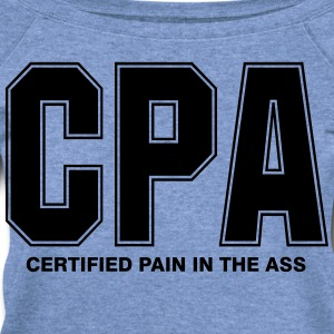 CPA Pain Vector - Women's Wideneck Sweatshirt