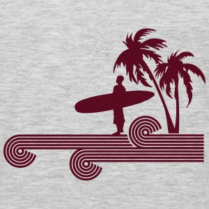 retro surfer palms Tanks - Men's Premium Long Sleeve T-Shirt