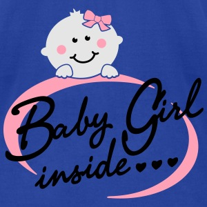 baby girl inside Tanks - Men's T-Shirt by American Apparel