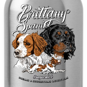 brittany_spaniel T-Shirts - Water Bottle