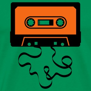 audio tape cassette recorder cassette player deck  Hoodies - Men's Premium T-Shirt