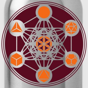 Platonic Solids, Metatrons Cube, Flower of Life T-Shirts - Water Bottle