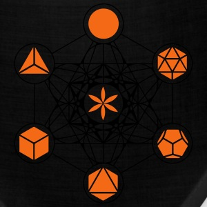 Platonic Solids, Metatrons Cube, Flower of Life T-Shirts - Bandana