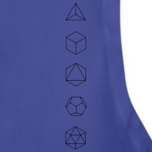 Platonic Solids, Sacred Geometry, Evolution T-Shirts - Adjustable Apron