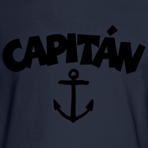 Capitán Anchor T-Shirt (White/Front) - Men's Long Sleeve T-Shirt