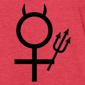 devil woman trident devil horns female symbol Tanks - Fitted Cotton/Poly T-Shirt by Next Level