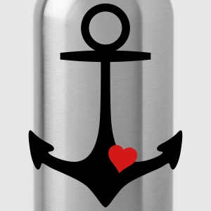 anchor and heart Bags & backpacks - Water Bottle