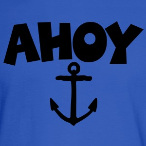 Ahoy Anchor T-Shirt (Blue/White) Women - Men's Long Sleeve T-Shirt