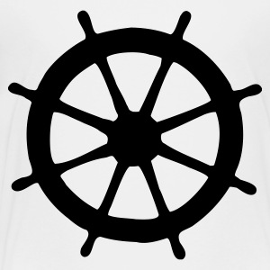 Steering Wheel T-Shirt (White/Black) Kids - Toddler Premium T-Shirt