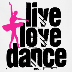 Live, Love, Dance Ballerina - Adjustable Apron
