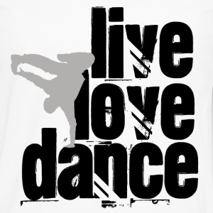 Live, Love, Dance - Men's Premium Long Sleeve T-Shirt