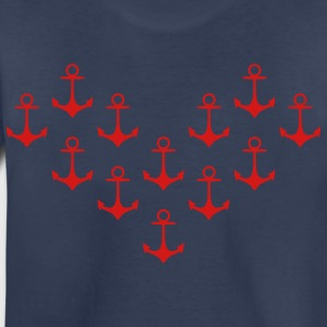 anchor pattern heart Kids' Shirts - Toddler Premium T-Shirt
