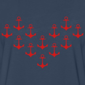 anchor pattern heart Kids' Shirts - Men's Premium Long Sleeve T-Shirt