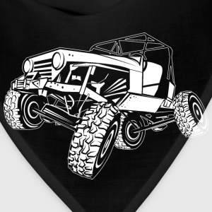 Off-Road White Monster Jeep Women's T-Shirts - Bandana