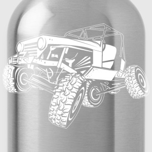 Off-Road White Monster Jeep Women's T-Shirts - Water Bottle