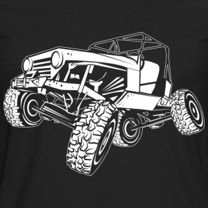 Off-Road White Monster Jeep Women's T-Shirts - Men's Premium Long Sleeve T-Shirt