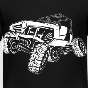 Off-Road White Monster Jeep Kids' Shirts - Toddler Premium T-Shirt
