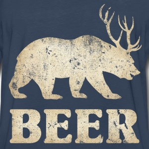 Vintage Bear+Deer=Beer - Men's Premium Long Sleeve T-Shirt