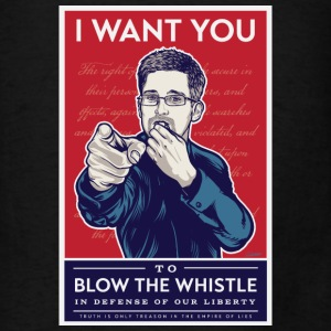 Edward Snowden - I want you to blow the whistle Bags & backpacks - Men's T-Shirt