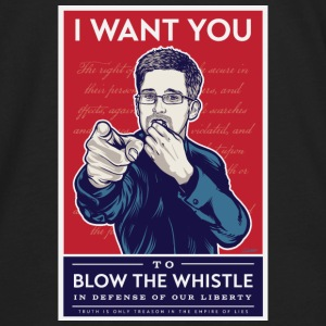 Edward Snowden - I want you to blow the whistle Bags & backpacks - Men's Premium Long Sleeve T-Shirt