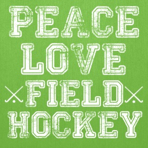 Peace, Love, Field Hockey  - Tote Bag