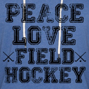 Peace, Love, Field Hockey - Unisex Lightweight Terry Hoodie
