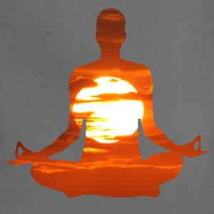 Man meditating yoga in the evening sun 01 T-Shirts - Adjustable Apron