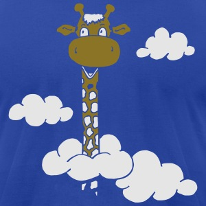 Giraffe in the clouds - Sweet Long Neck Hoodies - Men's T-Shirt by American Apparel