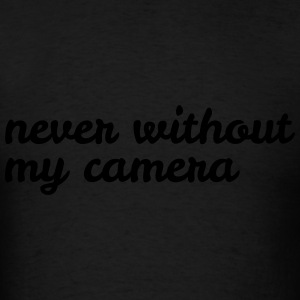 never without my camera Bags & backpacks - Men's T-Shirt