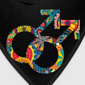 Colourful gay and lesbian symbols 04 Hoodies - Bandana